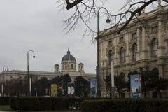 Πιό quartier κτήρια μουσείων στη χειμερινή εποχή της Βιέννης Στοκ εικόνα με δικαίωμα ελεύθερης χρήσης