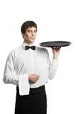 πιό sommelier σερβιτόρος δίσκων ατ Στοκ εικόνα με δικαίωμα ελεύθερης χρήσης