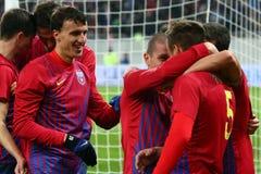 Μέσα FC Steaua Βουκουρέστι FC Gaz Metan Στοκ φωτογραφία με δικαίωμα ελεύθερης χρήσης