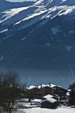 πιό verbier χωριό βουνών Στοκ Φωτογραφία
