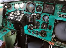 Πιλοτήριο αεροπλάνων Στοκ εικόνα με δικαίωμα ελεύθερης χρήσης