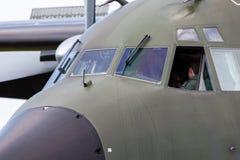 Πιλοτήριο από ένα Transall γ-160 μεταφορικό αεροπλάνο Στοκ Φωτογραφία