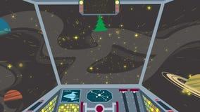 Πιλοτήριο διαστημοπλοίων διανυσματική απεικόνιση