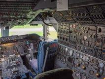 Πιλοτήριο jumbo - αεριωθούμενο αεροπλάνο Στοκ φωτογραφία με δικαίωμα ελεύθερης χρήσης