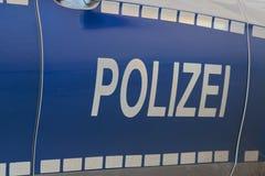 """Πλάγια όψη ενός χαρακτηριστικού γερμανικού περιπολικού της Αστυνομίας: """"Polizei """" στοκ εικόνες"""