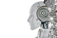 Πλάγια όψη ρομπότ απεικόνιση αποθεμάτων