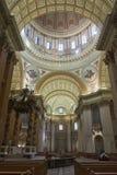 Πλάγια όψη του Μόντρεαλ καθεδρικών ναών εσωτερική στοκ εικόνες