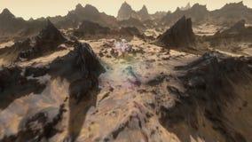 Πλάνης περιέργειας του Άρη που καθιερώνει τον πυροβολισμό διανυσματική απεικόνιση