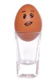 πλάνο γυαλιού αυγών φλυτζανιών κινούμενων σχεδίων Στοκ Φωτογραφίες
