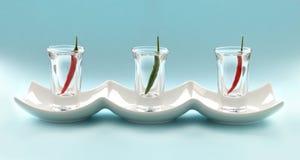 πλάνο γυαλιών τσίλι Στοκ φωτογραφίες με δικαίωμα ελεύθερης χρήσης