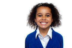 Πλάνο σχεδιαγράμματος ενός δροσερού και βέβαιου σχολικού κοριτσιού στοκ εικόνες