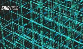 Πλέγμα στοιχείων Υπόβαθρο futurist Cyber σχεδιαγραμμάτων Bigdata Πληροφορίες σύννεφων απεικόνιση αποθεμάτων