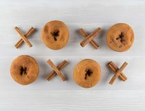 Πλέγμα της κανέλας Xs και doughnut OS στοκ φωτογραφία με δικαίωμα ελεύθερης χρήσης