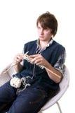 πλέκοντας άτομο τεχνών τέχν&et Στοκ Εικόνες