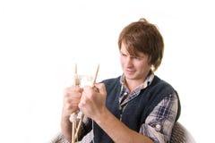 πλέκοντας άτομο τεχνών τέχν&et Στοκ φωτογραφίες με δικαίωμα ελεύθερης χρήσης