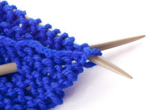 πλέκοντας μαλλί βελόνων Στοκ εικόνες με δικαίωμα ελεύθερης χρήσης