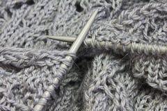 πλέκοντας πρότυπο βελόνω&nu Στοκ φωτογραφία με δικαίωμα ελεύθερης χρήσης