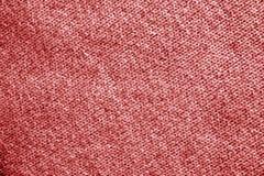Πλέκοντας σχέδιο στο κόκκινο χρώμα Στοκ Φωτογραφίες