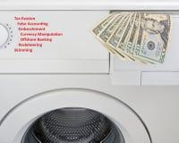πλένοντας χρήματα έννοιας Στοκ φωτογραφία με δικαίωμα ελεύθερης χρήσης