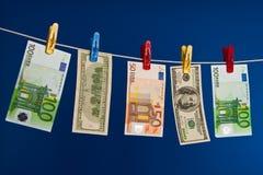 πλένοντας χρήματα Στοκ Εικόνες