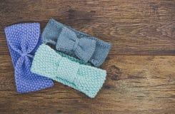 Πλέξτε χειμερινά headbands Στοκ φωτογραφίες με δικαίωμα ελεύθερης χρήσης