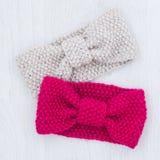 Πλέξτε χειμερινά headbands Στοκ εικόνες με δικαίωμα ελεύθερης χρήσης