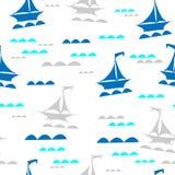 Πλέοντας βάρκες στα κύματα απεικόνιση αποθεμάτων