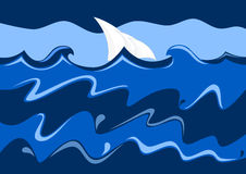 πλέοντας θάλασσα Στοκ Εικόνες