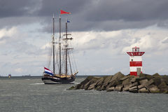 πλέοντας σκάφος θάλασσας Στοκ Φωτογραφίες