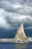 πλέοντας σκάφος θάλασσα& Στοκ εικόνα με δικαίωμα ελεύθερης χρήσης