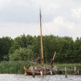 Πλέοντας σκάφος στις Κάτω Χώρες Στοκ φωτογραφία με δικαίωμα ελεύθερης χρήσης
