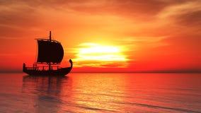 Πλέοντας σκάφος Ελεύθερη απεικόνιση δικαιώματος