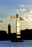 πλέοντας σκιαγραφία βαρ&kapp Στοκ Φωτογραφία
