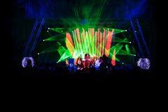 Πλήθος σε μια συναυλία στοκ εικόνα με δικαίωμα ελεύθερης χρήσης