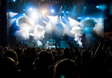 πλήθος συναυλίας Στοκ Φωτογραφία