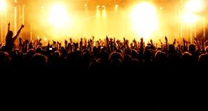 Πλήθος συναυλίας στοκ εικόνες με δικαίωμα ελεύθερης χρήσης