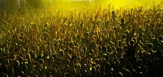 Πλήθος συναυλίας στοκ εικόνες