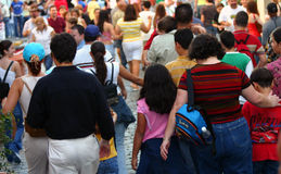 πλήθος στοκ φωτογραφία με δικαίωμα ελεύθερης χρήσης