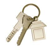 Πλήκτρα σπιτιών και keychain Στοκ Εικόνα