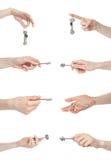 πλήκτρα χεριών χειρονομία&s Στοκ φωτογραφία με δικαίωμα ελεύθερης χρήσης