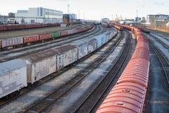 Πλήμνη μεταφορών σιδηροδρόμου - Ταλίν, Εσθονία στοκ εικόνες με δικαίωμα ελεύθερης χρήσης