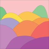 πλήρεις λόφοι χρώματος αν&a Στοκ Εικόνες