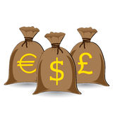 πλήρεις σάκοι χρημάτων Στοκ φωτογραφία με δικαίωμα ελεύθερης χρήσης