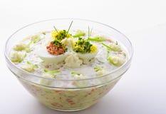 πλήρες λαχανικό σαλάτας αυγών Στοκ εικόνα με δικαίωμα ελεύθερης χρήσης