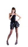 Πλήρες μήκος που καλύπτονται του προκλητικού γαλλικού κοριτσιού Στοκ φωτογραφία με δικαίωμα ελεύθερης χρήσης