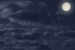 πλήρες μαγικό φεγγάρι Στοκ Εικόνα