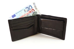 πλήρες πορτοφόλι χρημάτων Στοκ Εικόνες