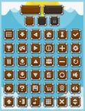 Πλήρες σύνολο κουμπιών παιχνιδιών φαντασίας Στοκ Εικόνα