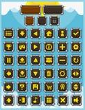 Πλήρες σύνολο κουμπιών παιχνιδιών φαντασίας Στοκ εικόνες με δικαίωμα ελεύθερης χρήσης