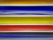 Πλήρες υπόβαθρο πλαισίων των εγγράφων χρώματος για το ράφι Στοκ φωτογραφίες με δικαίωμα ελεύθερης χρήσης